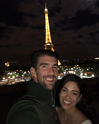 "Michael Phelps releases a photo on Instagram with the following caption: ""Happy Valentine\u2019s Day to my best friend and the love of my life !! I feel so lucky to have you by my side for ever and ever\ud83d\ude18"". Photo Credit: Instagram *** No USA Distribution *** For Editorial Use Only *** Not to be Published in Books or Photo Books ***  Please note: Fees charged by the agency are for the agency's services only, and do not, nor are they intended to, convey to the user any ownership of Copyright or License in the material. The agency does not claim any ownership including but not limited to Copyright or License in the attached material. By publishing this material you expressly agree to indemnify and to hold the agency and its directors, shareholders and employees harmless from any loss, claims, damages, demands, expenses (including legal fees), or any causes of action or allegation against the agency arising out of or connected in any way with publication of the material."