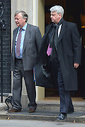 © Licensed to London News Pictures. 05/03/2013. Westminster, UK Minister without Portfolio Ken Clarke (L) and Leader of the Commons Andrew Lansley. Ministers after a Cabinet Meeting at number 10 Downing Street on 5th March 2013. Photo credit : Stephen Simpson/LNP