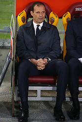 May 12, 2019 - Rome, Lazio, Italy - Roma, Lazio, Italy, 12-05-19, Italian football match between As Roma - Juventus at the Olimpico Stadium in picture coach Juventus Massimiliano Allegri  , the final score is 0-2 for As Roma  (Credit Image: © Antonio Balasco/Pacific Press via ZUMA Wire)