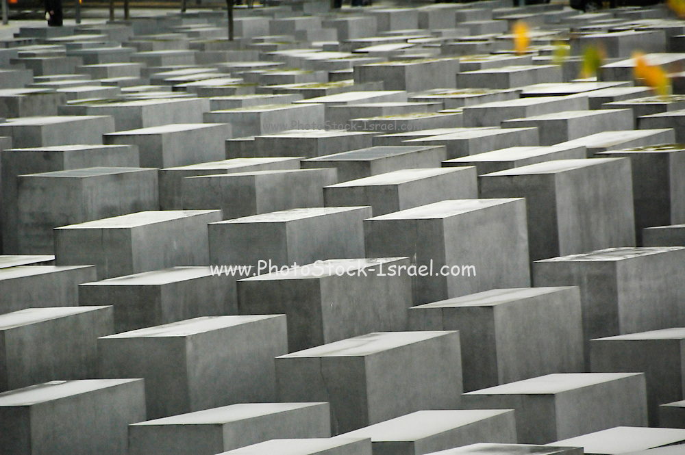 Berlin Holocaust memorial of stone slabs to Jews murdered during 2nd world war in Europe