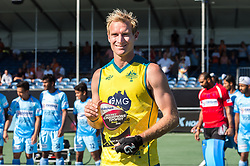 Aran Zalewski of Australia best player of the tournament during the Champions Trophy finale between the Australia and India on the fields of BH&BC Breda on Juli 1, 2018 in Breda, the Netherlands.