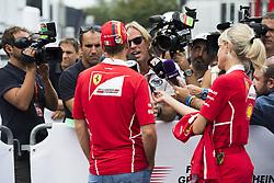 August 31, 2017 - Monza, Italy - Motorsports: FIA Formula One World Championship 2017, Grand Prix of Italy, ..#5 Sebastian Vettel (GER, Scuderia Ferrari), Britta Roeske (GER, Infiniti Red Bull Racing) (Credit Image: © Hoch Zwei via ZUMA Wire)