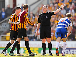 Bradford players react after a free kick is given to Reading - Photo mandatory by-line: Matt McNulty/JMP - Mobile: 07966 386802 - 07/03/2015 - SPORT - Football - Bradford - Valley Parade - Bradford City v Reading - FA Cup - Quarter Final