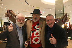 Hollywood actor - Patrick Bergin along with John Sheahan (The Dubliners), Padraig Harrington (Singer & piano man), Brendan Graham (songwriter) & Neil Martin (cello player) pictured promoting an X MAS song for Christmas - selling for 5.00 Euro, 100% going to Barnardos Children's Charity. 06 Dec 2018 Pictured: Irish actor, Patrick Bergin pictured @ BTs in Dublin, Ireland promoting an X MAS song for charity today @ 4pm. Photo credit: Mark D / MEGA TheMegaAgency.com +1 888 505 6342