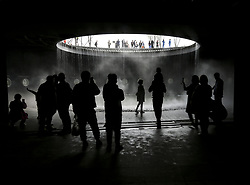 April 29, 2019 - Beijing, China - People visit the China Pavilion at the International Horticultural Exhibition 2019 Beijing in Yanqing District of Beijing, China. The expo opened to the public on Monday. (Credit Image: © Yin Gang/Xinhua via ZUMA Wire)