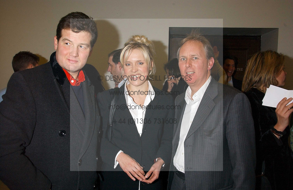 Left to right, TIM ACKROYD, actress BETH CORDINGLY and CHARLES MAYHEW at a concert by Charlotte Gordon Cumming in aid of Tusk held at the National Geographical Society, 1 Kensington Gore, London SW7 on 16th March 2006.<br /><br />NON EXCLUSIVE - WORLD RIGHTS
