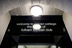 Entrance to the dressing rooms at Craven Cottage - Rogan/JMP - 31/10/2017 - Craven Cottage - London, England - Fulham FC v Bristol City - Sky Bet Championship.