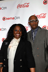 Samuel L. Jackson and LaTanya Richardson attending the CinemaCon 2018 Big Screen Achievement Awards held at The Colosseum Caesars Palace Hotel & Casino Las Vegas, Nevada.