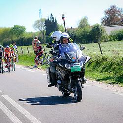 08-05-2016: Wielrennen: Giro: Arnhem<br />ARNHEM (NED) wielrennen<br />De tweede etappe van de voerde het peloton door de over Betuwe en de Liemers. De mannen die de koers in beeld brachten