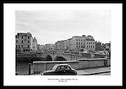 An old photo by Lensmen Photographic Agency showing the view of St Patrick's Street and Bridge in Cork City. Irish vintage pictures are great to give as gifts for anniversaries.
