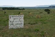 The US Army has been trying to purchase land in southeast Colorado for a training base.  Many ranch owners in the area are opposed to the plan.  You see these signs all over southeastern Colorado.
