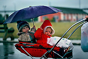 Rain trying to stop play in Butlins Holiday camp, Skegness. Butlins Skegness is a holiday camp located in Ingoldmells near Skegness in Lincolnshire. Sir William Butlin conceived of its creation based on his experiences at a Canadian summer camp in his youth and by observation of the actions of other holiday accommodation providers, both in seaside resort lodging houses and in earlier smaller holiday campsThe camp began opened in 1936, when it quickly proved to be a success with a need for expansion. The camp included dining and recreation facilities, such as dance halls and sports fields. Over the past 75 years the camp has seen continuous use and development, in the mid-1980s and again in the late 1990s being subject to substantial investment and redevelopment. In the late 1990s the site was re-branded as a holiday resort, and remains open today as one of three remaining Butlins resorts.