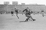 Players tackle for ball during the All Ireland Senior Hurling Final - Kilkenny v Galway, Kilkenny 2-12, Galway 1-8, 2nd September 1979.