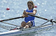 Trakai, LITHUANIA. ITA W1X, .Laura MILANI.   Bronze medalist, 2002 Junior World Rowing Championships, on Lake Galva Wednesday  07/08/2002 [Mandatory Credit: Peter Spurrier/ Intersport Images] 200208 Junior World Rowing Championships, Trakai, LITHUANIA
