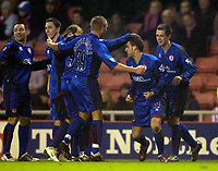 Photo: Jed Wee.<br /> Sunderland v Middlesbrough. Barclays Premiership. 31/01/2006.<br /> <br /> Middlesbrough celebrate with goalscorer Stuart Parnaby (2nd R).