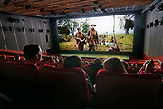Nederland, the Netherlands, 26-1-2020 Bioscoop van Pathe, CineMec langs de N325 bij Nijmegen met de film 1917 over de eerste wereldoorlog, wo1. De bioscoop beschikt o.a. over een grote bioscoopzaal met 750 stoelen. Het scherm is 12 bij 30 meter. Hiervoor is een projector beschikbaar die zijn licht haalt van laserlicht met een lichtopbrengst van 60.000 lumen, waardoor ook bij 3d een helder beeld bereikt wordt. Een gewone projector zit op 15.000 lumen. Cinemec is onderdeel van Pathe, pathé . FOTO: FLIP FRANSSEN