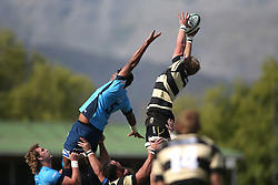 Jacques Engelbrecht of Boland wins the line out ball during the Currie Cup premier division match between the Boland Cavaliers and The Blue Bulls held at Boland Stadium, Wellington, South Africa on the 23rd September 2016<br /> <br /> Photo by:   Shaun Roy/ Real Time Images