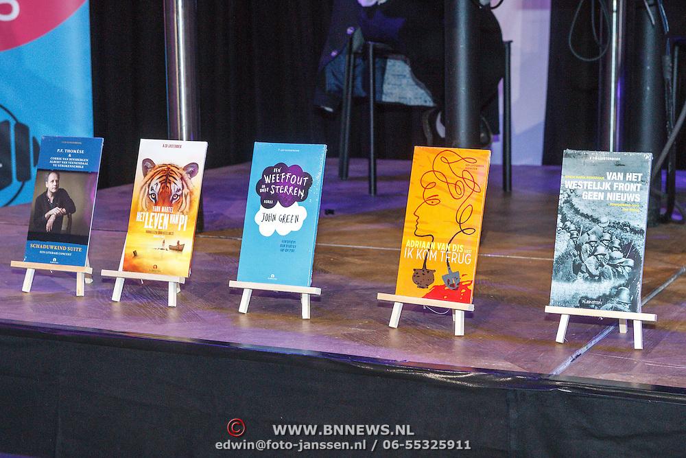 NLD/Amsterdam/20150518 - Uitreiking Storytel Luisterboek Award , genomineerde luisterboeken