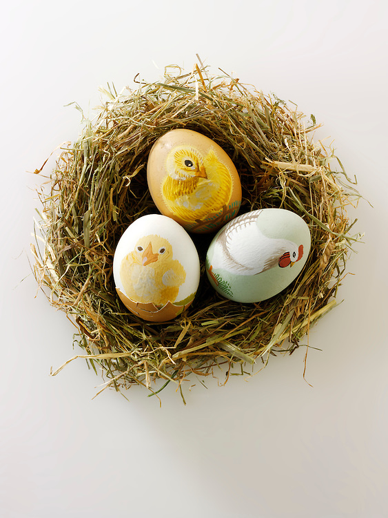 Traditional decorated Easter eggs
