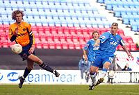 Photo: Chris Brunskill. Wigan Athletic v Milwall. Coca-Cola Championship. 12/03/2005. Graham Kavanagh of Wigan shoots at goal.