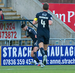Falkirk's Reghan Tumility (16) cele scoring their second goal. Falkirk 6 v 1 Dundee United, Scottish Championship game played 6/1/2018 played at The Falkirk Stadium.