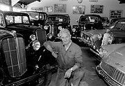 Ken Brunt, Castleisland, antique car collector Kerry 1993.<br /> Killarney Now & Then - MacMONAGLE photo archives.<br /> Picture by Don MacMonagle -macmonagle.com<br /> Facebook - @killarneynowandthen