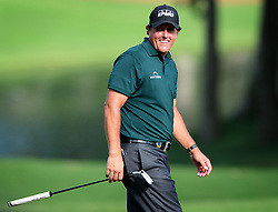 Phil Mickelson during first-round action in the PGA Championship at Quail Hollow Club on Thursday, Aug. 10, 2017, in Charlotte, N.C. (Photo by Jeff Siner/Charlotte Observer/TNS/Sipa USA)  *** Please Use Credit from Credit Field ***