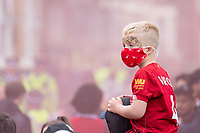 Football - 2019 / 2020 Premier League - Liverpool vs Chelsea<br /> A young fan awaits the Liverpool team coach at Anfield<br /> <br /> Credit: COLORSPORT/TERRY DONNELLY