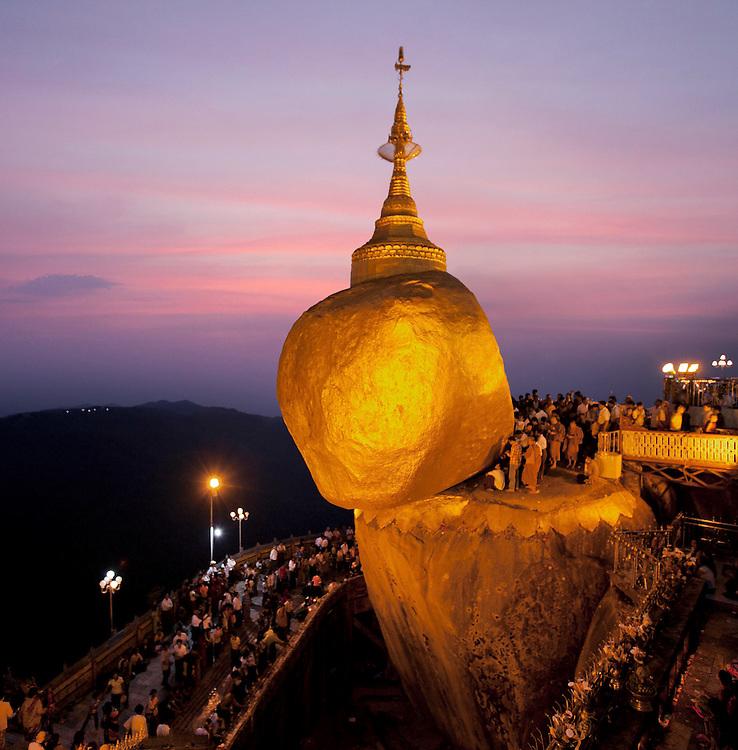 Kyaiktiyo Pagoda. The Golden Rock. Myanmar