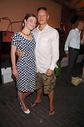 Actress CAMILLA RUTHERFORD and DOMINIC BURNS at the launch of 'Glenmorangie 5 Senses' an exhibition of photographs by Mike Figgis held at Proud Camden, Stables Market, London NW1 on 13th May 2008.<br /><br />NON EXCLUSIVE - WORLD RIGHTS
