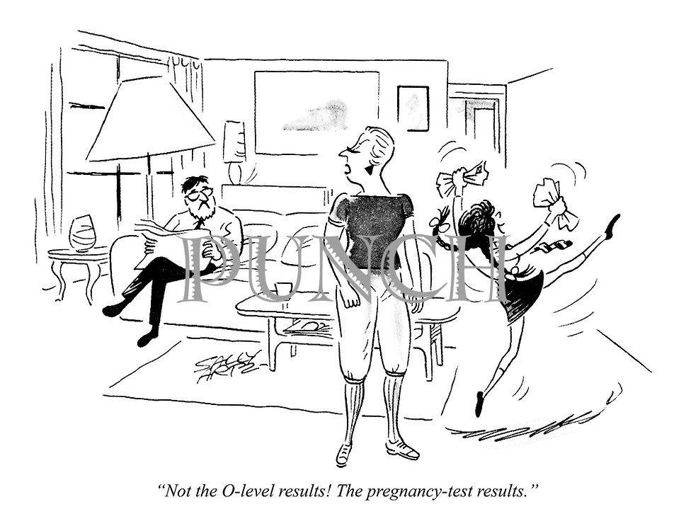 """Not the O-level results! The pregnancy-test results."""