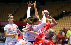 HERNING, DENMARK - DECEMBER 3, 2020: Ainhoa Hernandez of Spain during the EHF Euro 2020 Group C match between Russia and Spain in Jyske Bank Boxen, Herning, Denmark on December 3 2020. Photo Credit: Allan Jensen/EVENTMEDIA.