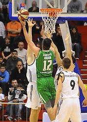 Nikola Jankovic #12 of KK Union Olimpija during basketball match between KK Partizan Beograd and KK Union Olimpija Ljubljana in Round #5 of ABA League 2016/17, on October 16, 2016 in Beograd, Serbia. Photo by Nebojsa Parausic / Sportida