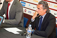 Coach Sergio Scariolo attends to the reading of the list of players preselected to Eurobasket 2017 in Madrid, June 28, 2017. Spain.<br /> (ALTERPHOTOS/BorjaB.Hojas)