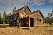 The Whitcomb-Cole hewn log house is an example of early pioneer homes built in the 1890's.  It is one of only a few pioneer log homes still standing in Klickitat County, Washington. It originally stood two miles across Conboy lake on land first settled by Stephen Whitcomb. In 1891, John Cole acquired the land from Whitcomb and built the main structure of the house, which included a large downstairs room that served as a kitchen, dining, sitting and family room. The house is located in Conboy Lake National Wildlife Refuge, Washington.