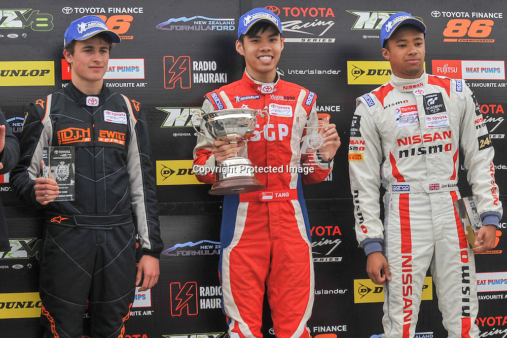 Andrew Tang from Singapore, series Champion in  the 2014 Toyota Racing Series in New Zealand