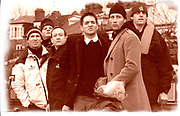 © Peter Spurrier Sports Photo<br /> email - pictures@rowingpics.com<br /> Tel:+<br /> <br /> Photo: Peter Spurrier<br /> 02/03/2001<br /> 2001 Varsity Boat Race - Championship Course - Putney to Mortlake.<br /> Oxford coaching launch - Terry Dillon, Richard Lindsay, Luka Grubor, Dan Topolski Derek Clark and Sean Bowden. <br /> <br /> <br />  <br /> <br /> <br /> <br /> <br /> <br /> <br /> <br /> <br /> <br /> <br /> Salesi Finau [Mandatory Credit; Peter SPURRIER/Intersport Images]<br /> <br /> 20010324 University Boat Race, Putney to Mortlake, London, Great Britain.