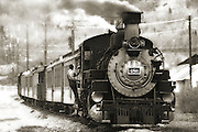 Sepia photo of the Durango-Silverton Railroad in Colorado. Art Prints. Colin Braley/Photo
