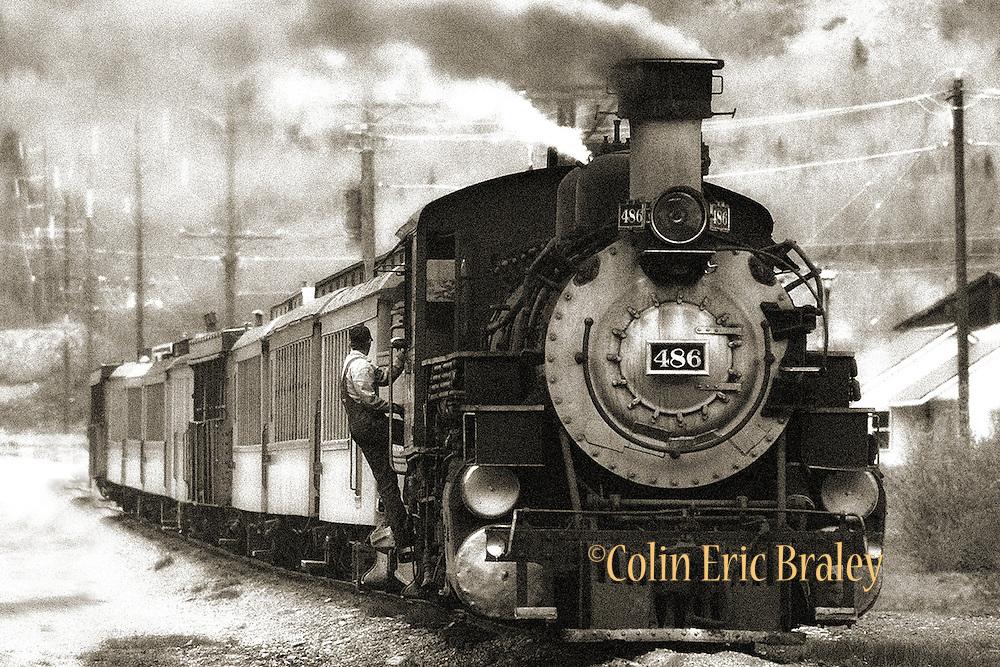 Sepia photo of the Durango-Silverton Railroad in Colorado. Art Prints. Colin Braley/Photo