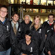 Championship organizers at the 2012 IIHF Ice Hockey World Championships Division 3 held at Dunedin Ice Stadium. Dunedin, Otago, New Zealand. 22nd January 2012. Photo Tim Clayton