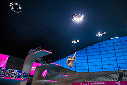 Grace Reid of Great Britian in action on the Womens 1m Springboard - Mandatory byline: Rogan Thomson/JMP - 11/05/2016 - DIVING - London Aquatics Centre - Stratford, London, England - LEN European Aquatics Championships 2016 Day 3.