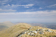 Looking down the ridge to Y Foel Goch from Glyder Fach