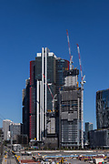 Sydney, Australia. Thursday 22nd July 2021. General views of the Barangaroo construction building site. New restrictions imposed have stopped all construction work in Sydney until at least the 30th July due to the highly infectious Delta Variant of Covid-19. Credit: Paul Lovelace/Alamy Live News