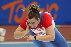 Anna Omarova of Russia at the 1st day of  European Athletics Indoor Championships Torino 2009 (6th - 8th March), at Oval Lingotto Stadium,  Torino, Italy, on March 6, 2009. (Photo by Vid Ponikvar / Sportida)
