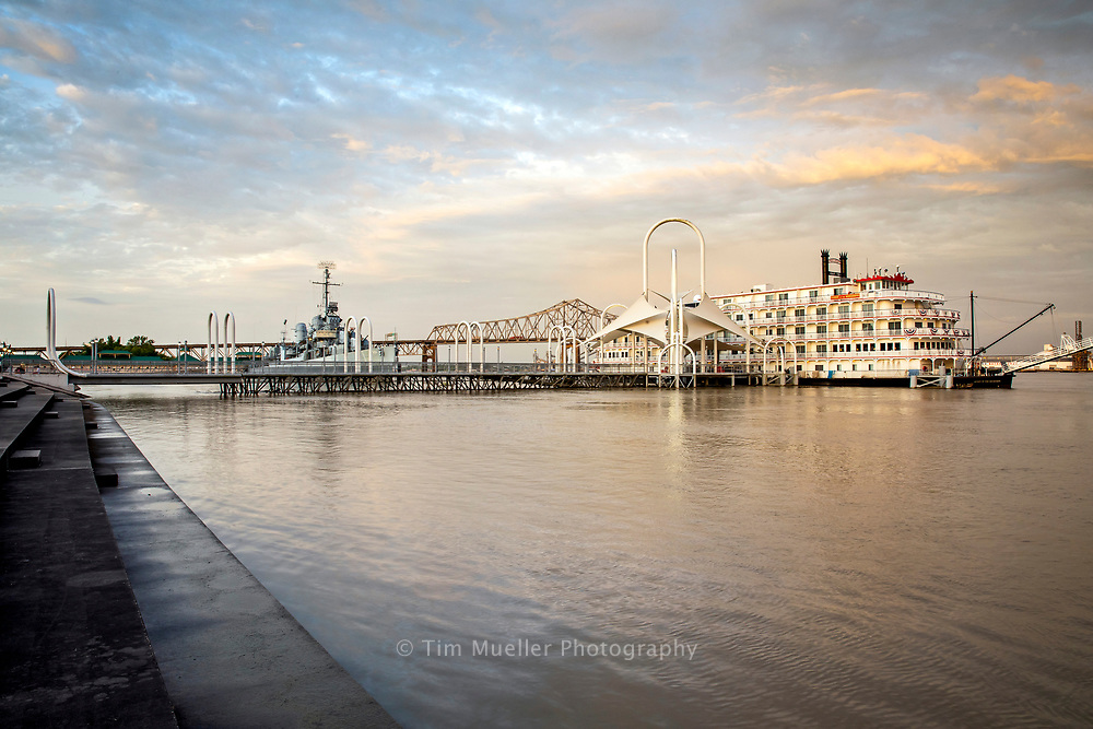 Early Monday morning, June 17, 2019 the Mississippi River at Baton Rouge reached a flood stage of 43.7 feet and should begin to fall. The city of Baton Rouge is protected by levees, but shipping and industrial operations on the river are significantly affected.
