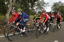 December 15, 2017 - Majorca, SPAIN - Belgian Jasper De Buyst of Lotto Soudal, Belgian Jens Keukeleire of Orica Scott, Belgian Lawrence Naesen of WB Veranclassic Aqua Protect, Belgian Nikolas Maes of Lotto Souda, German Marcel Sieberg of Lotto Soudal and Belgian Tiesj Benoot of Lotto Soudal pictured in action during a press day during Lotto-Soudal cycling team stage in Mallorca, Spain, ahead of the new cycling season, Friday 15 December 2017. BELGA PHOTO DIRK WAEM (Credit Image: © Dirk Waem/Belga via ZUMA Press)