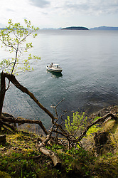 Fishing Boat off Jones Island, San Juan Islands, Washington, US