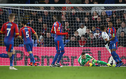 Crystal Palace goalkeeper Vicente Guaita holds the ball, during the Premier League match at Selhurst Park, south east London.