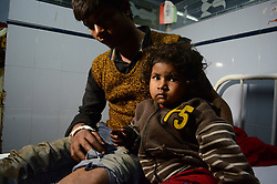 November 20, 2016 - Pukhrayan, Kanpur, India - Shrishti, a 2 years old girl, who lost her parents , admitted with her uncle, district hospital, some 60 kms from Kanpur, on November 20,2016. Indore Patna express train derailed on sunday's early morning. more than 200 people died and several injured, according to officials. (Credit Image: © Ritesh Shukla/NurPhoto via ZUMA Press)