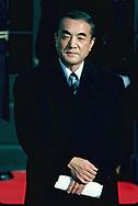 Japanese Prime Miniter Yasuhiro Nakasone  at the White House on May 27, 1983<br />Photo by Dennis Brack